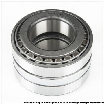 skf 33011T59/DB Matched Single row tapered roller bearings arranged back-to-back